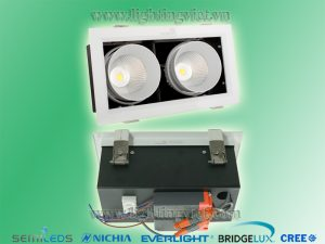 đèn led downlight 20w 2*10w kingled