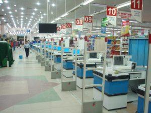 Đèn led chiếu sáng siêu thị, trung tâm thương mại quầy thu tiền
