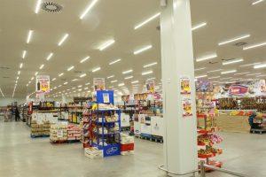 Đèn led chiếu sáng siêu thị, trung tâm thương mại khu mua bán chung