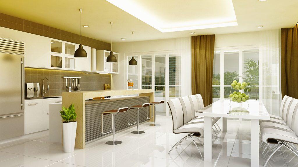 Đèn led chiếu sáng nhà ở, chung cư phòng bếp