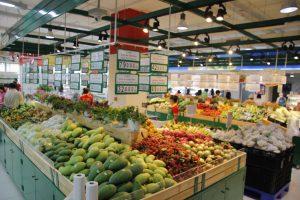 Đèn led chiếu sáng siêu thị, trung tâm thương mại khu bán hàng thực phẩm